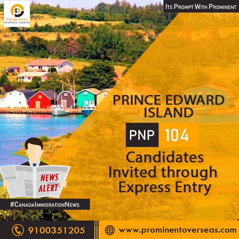 Prince Edward Island Draw - Invited 104 Candidates Under Express